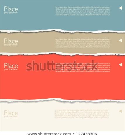 Laranja papel rasgado quadro retro cor branco Foto stock © cammep