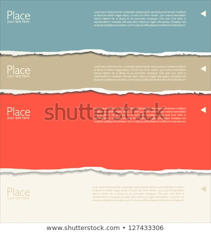 orange torn paper vector illustration stock photo © cammep