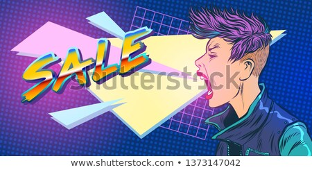 sale season 80s girl woman Stock photo © studiostoks