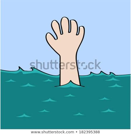 Desenho animado salva-vidas idéia seis sorridente gráfico Foto stock © cthoman