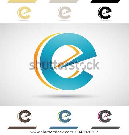 Green and Black Geometrical Glossy Letter E Vector Illustration Stock photo © cidepix