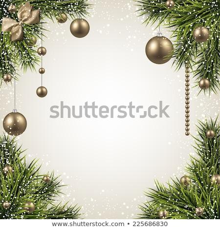 Or babiole espace de copie Noël vert noir Photo stock © limbi007