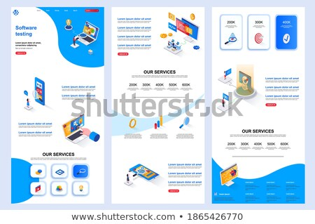 Software testing it header or footer banner Stock photo © RAStudio
