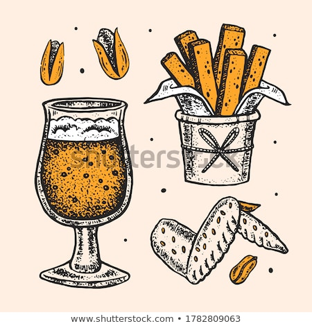 Bier chips ingesteld Stockfoto © robuart