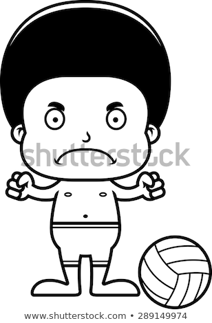 漫画 怒っ バレーボール プレーヤー 少年 見える ストックフォト © cthoman