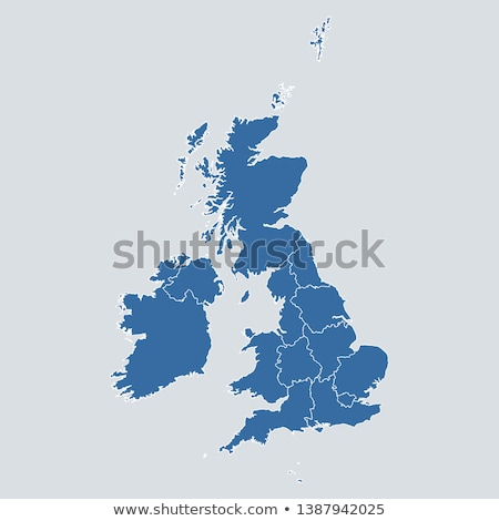 Сток-фото: United Kingdom Logo Icon Vector Map
