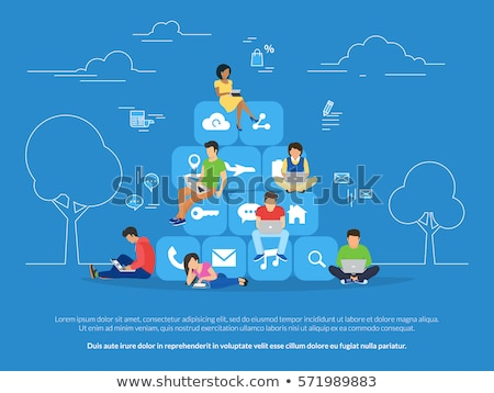 Social Network Wifi Icons Vector Illustration Stock photo © robuart