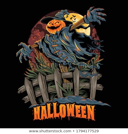Pumpkin Scarecrow Illustration Stock photo © lenm