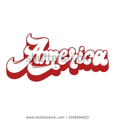 ABD kelime harfler Amerika Birleşik Devletleri Amerika pop art Stok fotoğraf © studiostoks