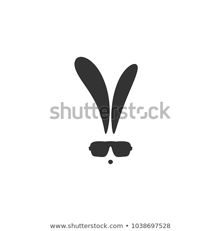 cool easter bunny rabbit in sunglasses cartoon stock photo © krisdog