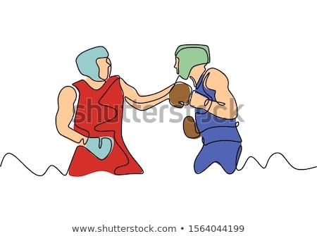 спортсмена черные перчатки стороны Перейти человека спорт Сток-фото © Andreyfire