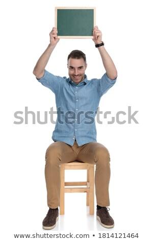 сидящий счастливым случайный человека совета Сток-фото © feedough