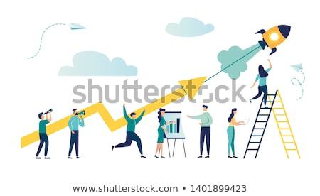 Negocios progreso idea éxito iconos vector Foto stock © robuart