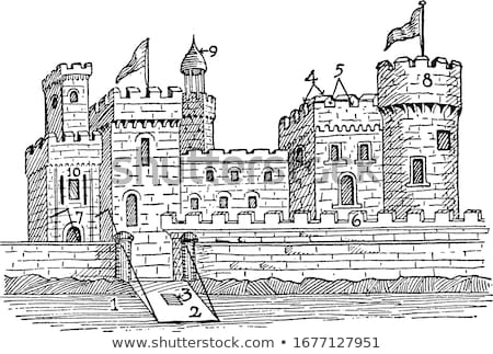 Medieval castillo entrada edificio construcción viaje Foto stock © unkreatives