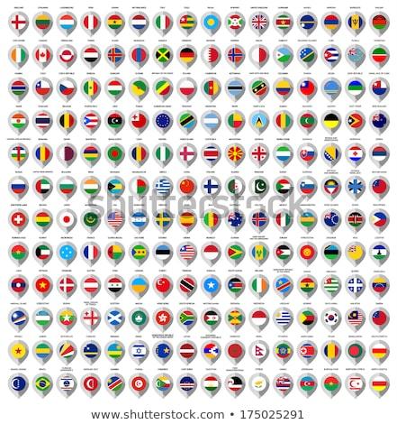 Бразилия карта Мир карта флаг Pin Сток-фото © kyryloff