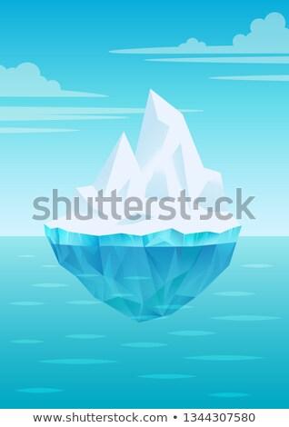 gleccser · jéghegy · lebeg · tenger · víz · hullámok - stock fotó © marysan