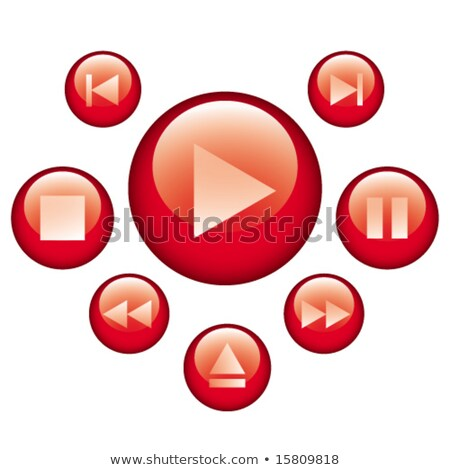 Red Play Icon On Keyboard Stock photo © AndreyPopov