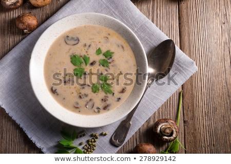 leves · friss · gombák · tál · friss · zöldség · étterem - stock fotó © grafvision