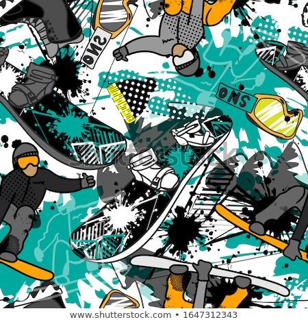 Snowboard Muster Winter Ski Design Stock foto © JeksonGraphics