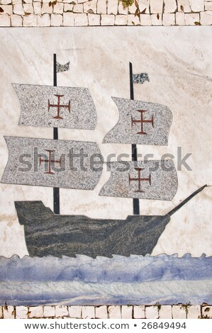 Old Portuguese Explorer Mosaic Color Stock photo © patrimonio