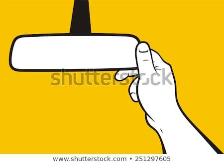 Vektör ayarlamak ayna dizayn Metal Stok fotoğraf © olllikeballoon