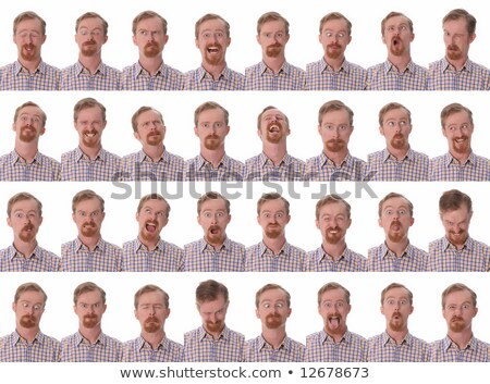 Grande expressões faciais detalhes cara homem modelo Foto stock © vladacanon