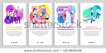 Social Network, Concluding Transaction Assistance Stock photo © robuart