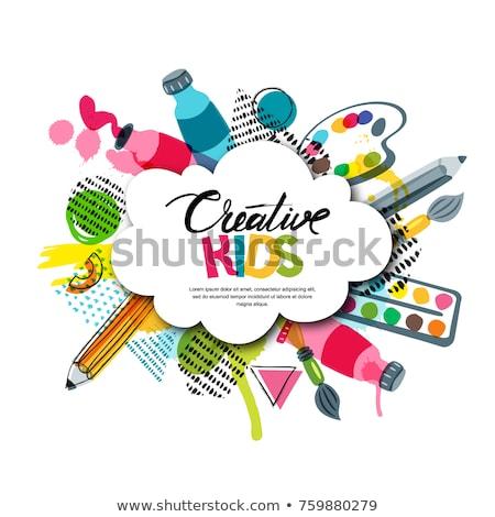 Gyerekek művészet oktatás kreativitás osztály szalag Stock fotó © ikopylov