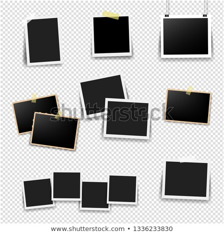 Black Picture Frame Set Mint Background Stock photo © cammep