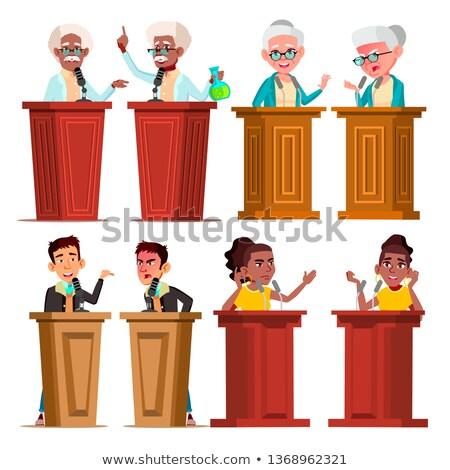 Foto stock: Politicians, Speakers, Tutors Cartoon Vector Characters Set