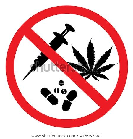 No drogas parada mano icono Foto stock © Lightsource