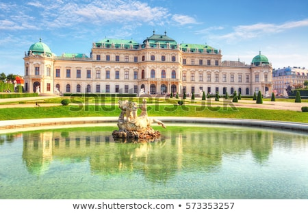 Foto stock: Palácio · Viena · um · belo · barroco · edifício
