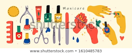 Vector illustration various of nail designs. Stock photo © netkov1