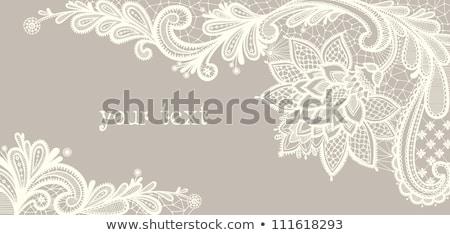 Stock fotó: Retro · csipke · minta · vektor · üdvözlőlap · esküvő · születésnapi · buli