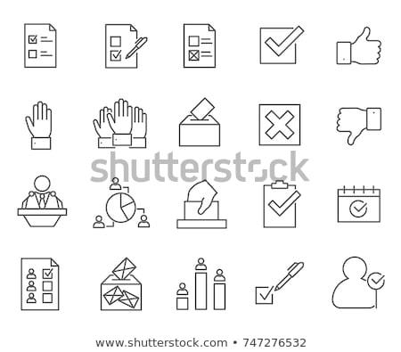 verkiezing · label · hand · vlag · land - stockfoto © netkov1