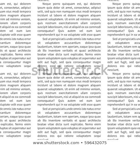 Biuro korespondencja kart wzór wektora działalności Zdjęcia stock © robuart