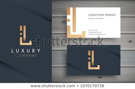 Prémium arany névjegy terv iroda kapcsolat Stock fotó © SArts