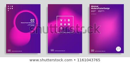 Vibrante establecer púrpura rosa pendientes resumen Foto stock © SArts