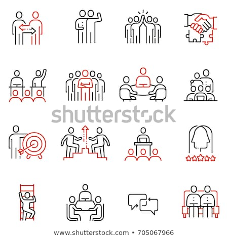 Corporate wisselwerking icon kleur ladder ontwerp Stockfoto © angelp