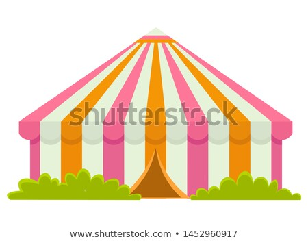 Circus Tent with Entrance, Green Bushes Isolated Stock photo © robuart