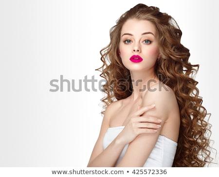 mooie · mode · vrouw · model · gezicht · portret - stockfoto © serdechny