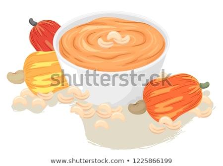 Vegan caju queijo ilustração nozes frutas Foto stock © lenm