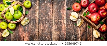 mand · appels · tabel · boomgaard · heerlijk · boom - stockfoto © karandaev
