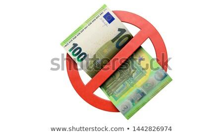 no cash money on white background. Isolated 3D illustration Stock photo © ISerg
