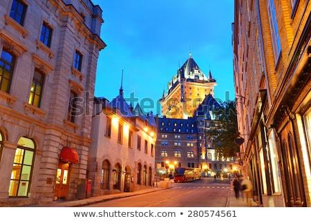Quebec · straat · stad · winter · gebouw · licht - stockfoto © lopolo