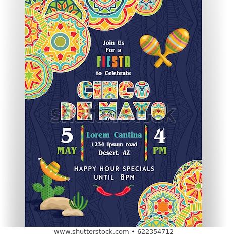 Cinco De Mayo Party Invitation Poster Stock photo © robuart