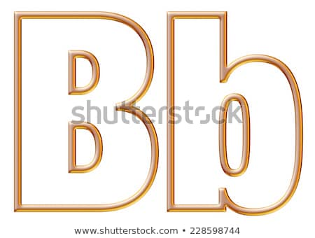 Yellow outlined font letter B 3D Stock photo © djmilic