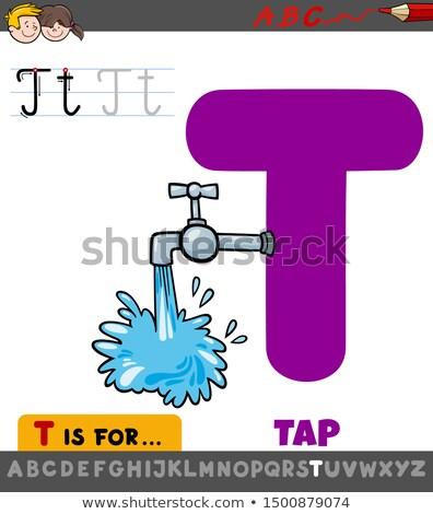 Lettre t cartoon robinet illustration alphabet Photo stock © izakowski