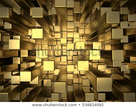 gold squares extruded background Stock photo © AnatolyM