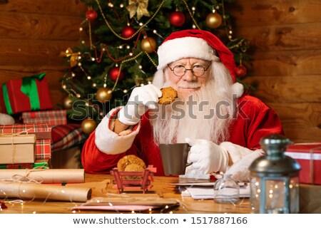 zencefilli · çörek · erkekler · kurabiye · beyaz · gıda · arka · plan - stok fotoğraf © pressmaster